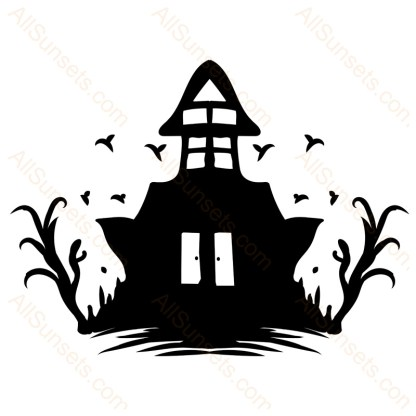 Halloween Haunted House Vector