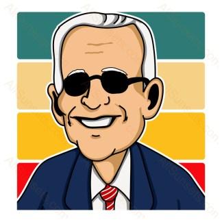 Joe Biden Retro Stripes Sunset