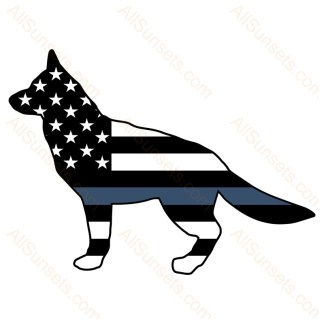 K9 Police Dog American Flag