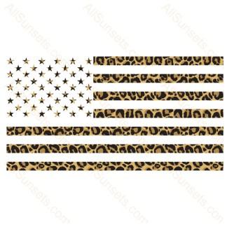 Leopard Print American Flag