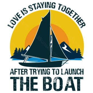 Love Is Staying Together After Trying To Launch The Boat