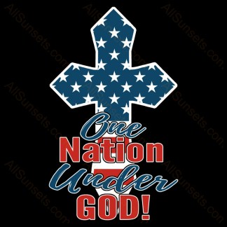 One Nation Under God American Flag Cross