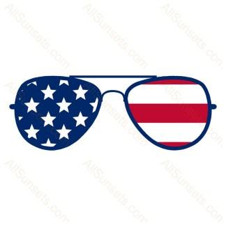 Patriotic American Flag Sunglasses