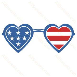 Patriotic Heart Sunglasses