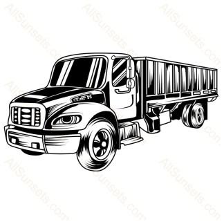Semi Cargo Truck Vector