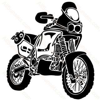 Street Sport Motorcycle Hand Drawn Vector