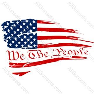 We The People Grunge American Flag