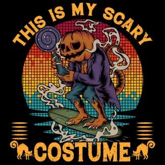 Pumpkin Surfer Halloween Costume T-shirt Design