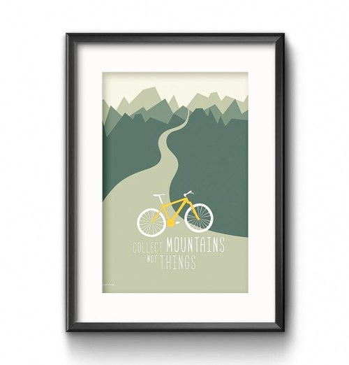 Print Poster Mountainbike