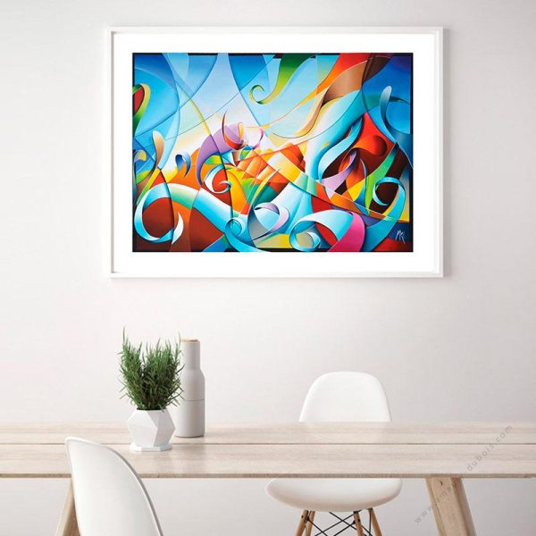 abstract colorful limited poster for sale