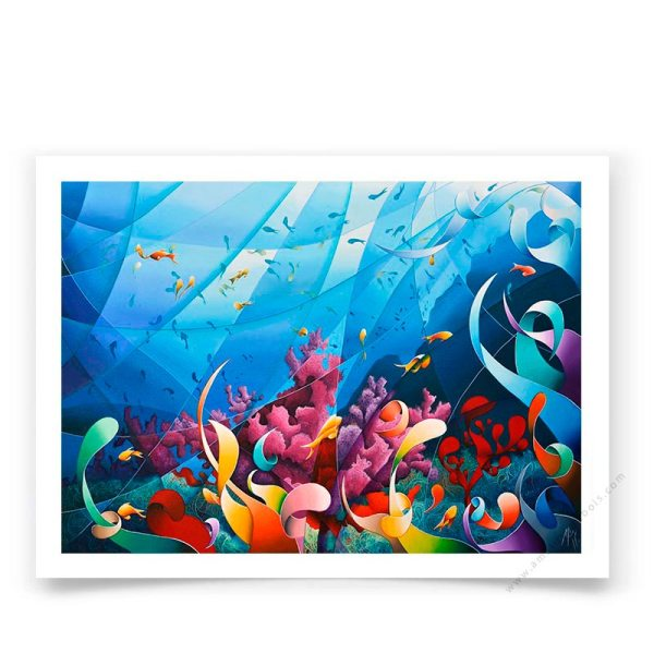 ocean contemporary art poster