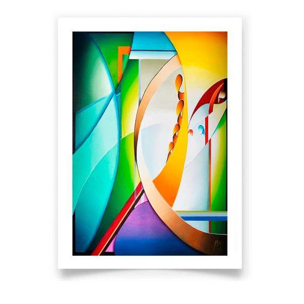 Affiche d'art tableau Abstrait moderne signée