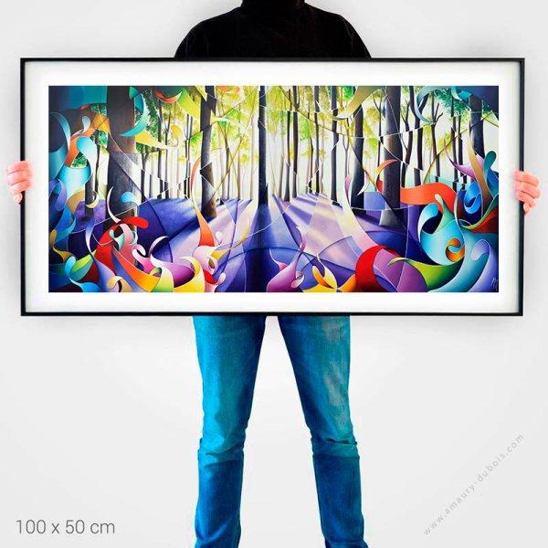 Forêt Mont Noir - Affiche d'art contemporain, Reproduction de peinture