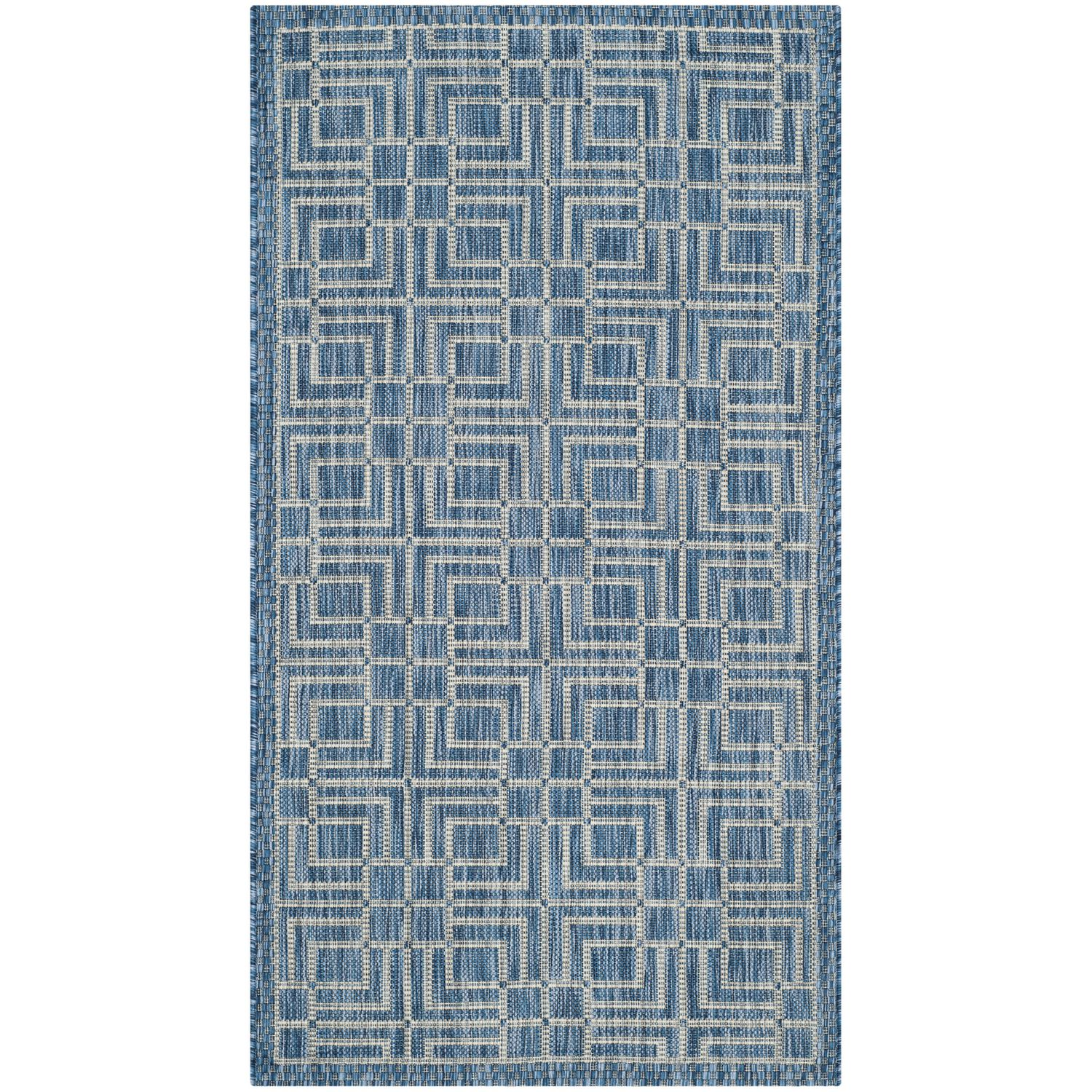 Outdoor Teppich Blau Grau In And Outdoor Teppich Nantucket Kunstfaser Blau Grau