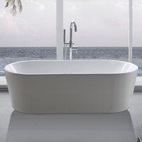 Freistehende Badewanne Madrid inkl. Ab- und berlauf kaufen