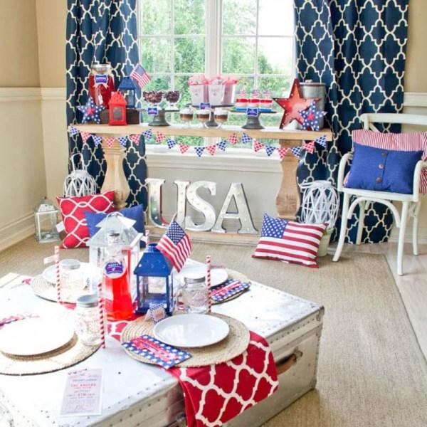 Rustic 4th Of July Patriotic American Celebration Bbq