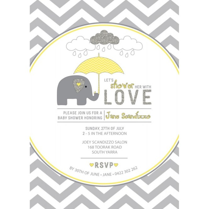 printable elephant baby shower invitations, Baby shower invitations