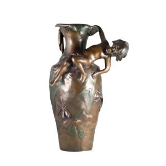 Vase Bronze Jugendstil