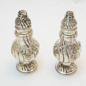 Paar Salzstreuer Silber Skandinavien