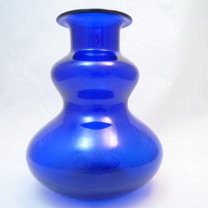 Vase Glas Kobaltblau