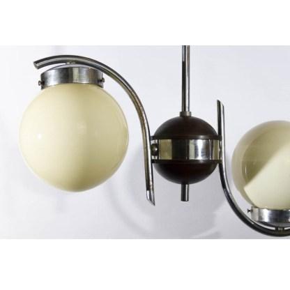 Art Deco Deckenlampe mit 2 Kugelleuchten, um 1920/30