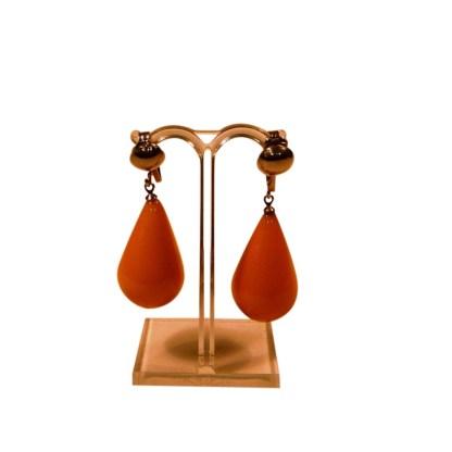 Art Deco Ohrhänger mit Chrom und Bakelit