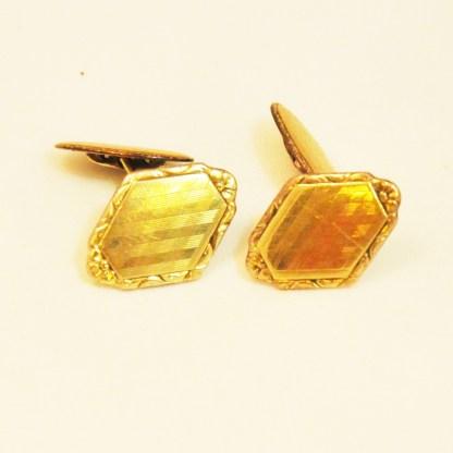 Manschettenknöpfe Silber vergoldet