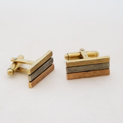 Goldene Manschettenknöpfe Tricolor