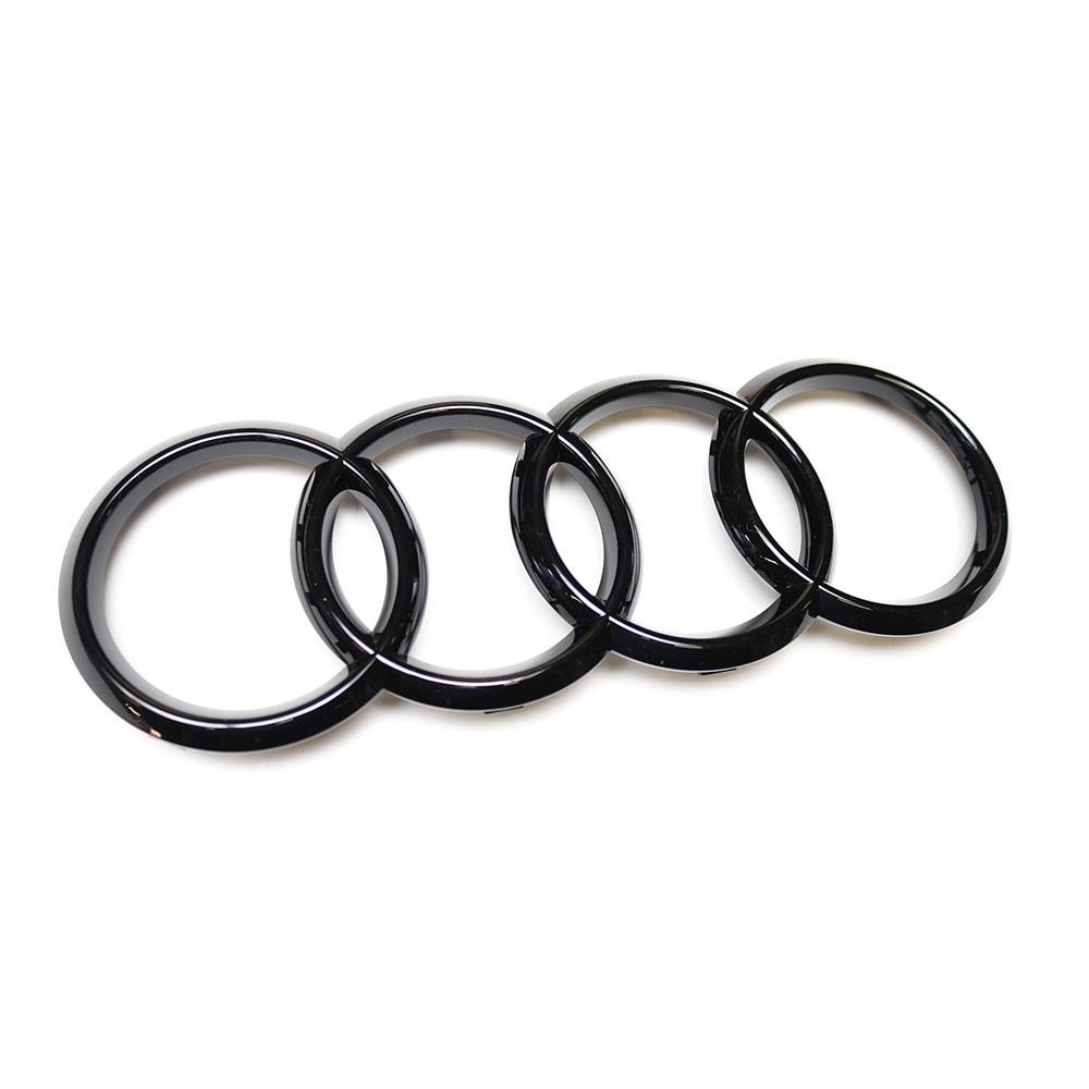 Audi Ringe Schwarz Glänzend 8T0853605 T94 Zeichen Emblem