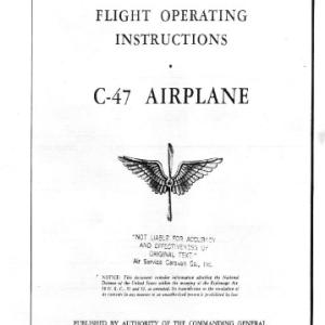 C-54 Skymaster Pilot training manual