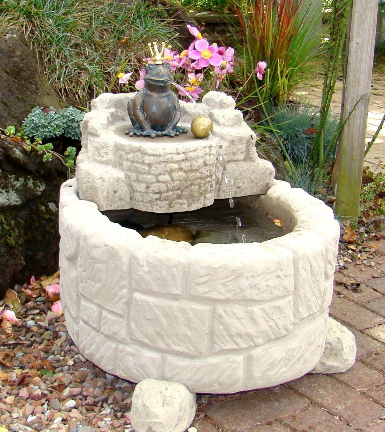 Brunnen Garten Stein: Frische