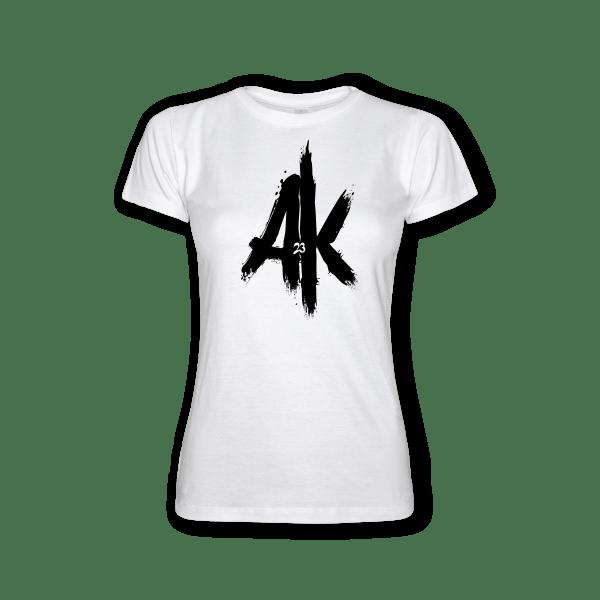 T-Shirt-white-Lady-Ak23-AK23-black