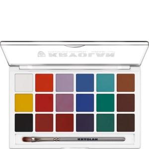 Kryolan Aquacolor Set 18 Farben