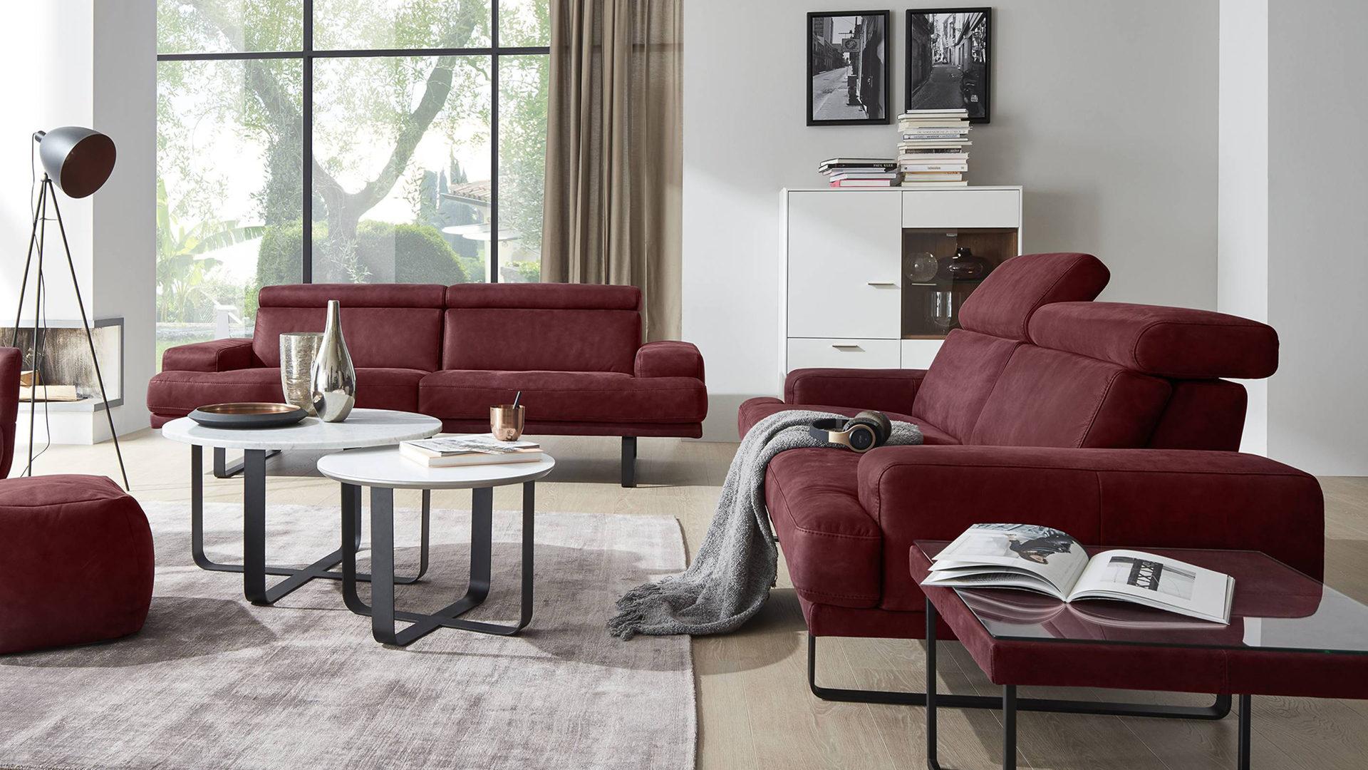 mobel bernskotter mulheim mobel a z sofas couches polstergarnituren interliving interliving sofa serie 4152 ledergarnitur dunkelrotes nubukleder
