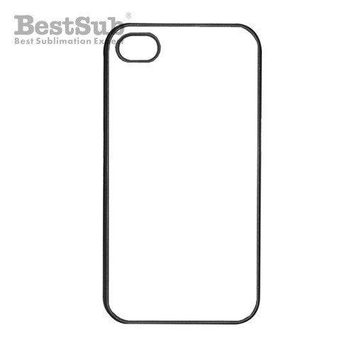 iPhone 4/4S coque plastique noir Sublimation Transfert