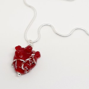 tiny glass anatomical heart