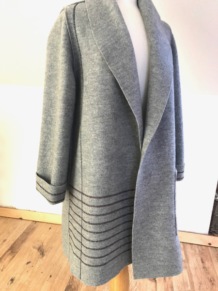 light grey duster coat