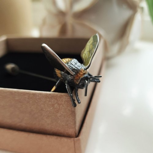 Sterling Silver Bumble Bee Brooches Pin