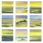 Out on the Marshes, watercolour from the Snapshots of Norfolk collection by Katie Millard