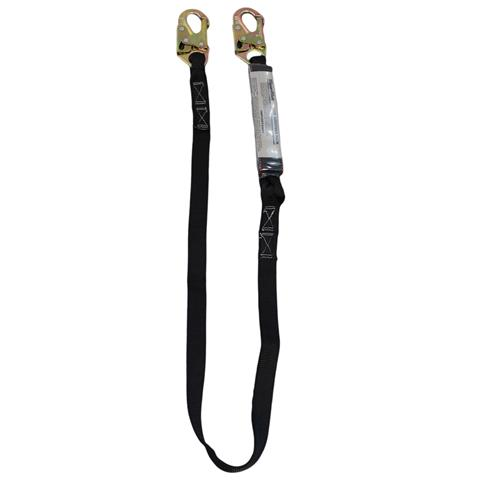SpanSet Single Leg 6' Lanyard w Safety Hooks