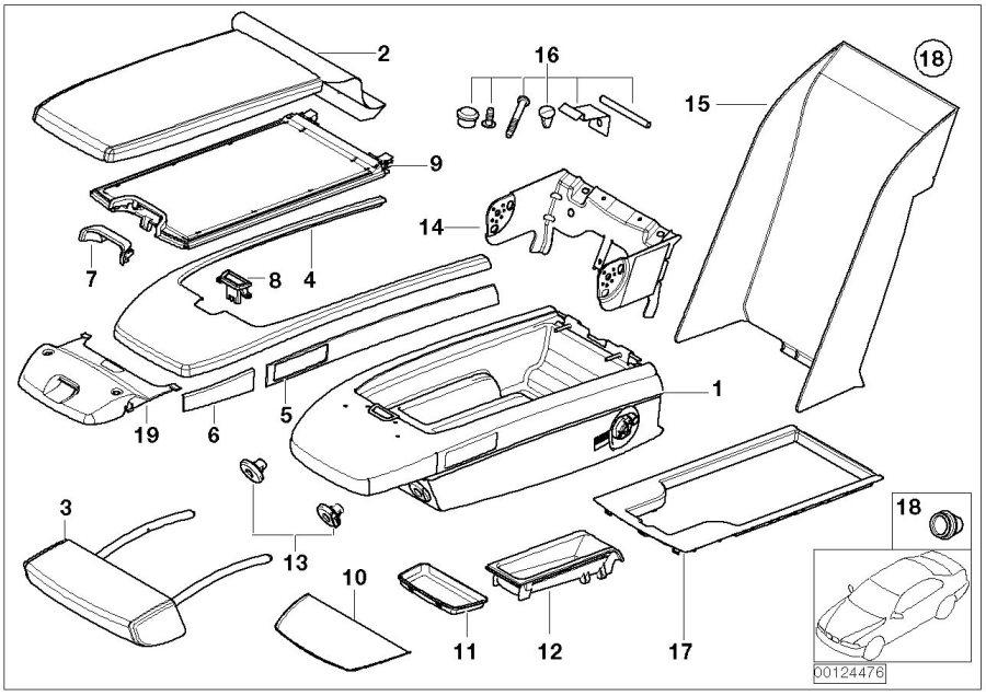 BMW 745i Locking mechanism. TITANGRAU. Seat, Rear