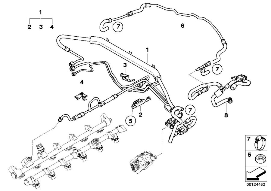 BMW 760Li High-pressure pump. Fuel, System, INJECTION