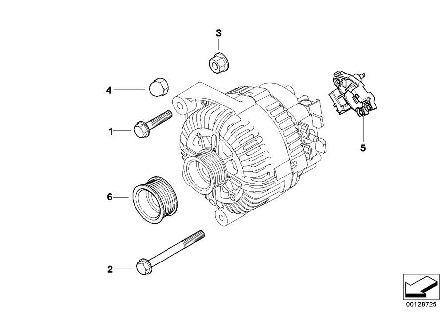 2010 BMW 328xi Pulley alternator. VALEO. Electrical