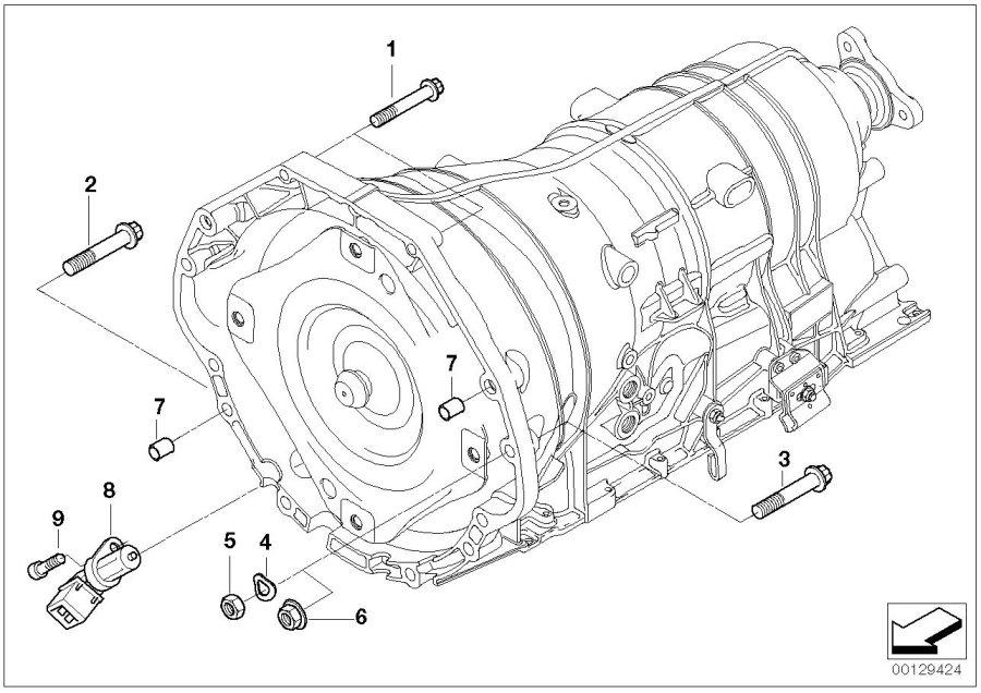 2010 BMW X5 Torx bolt. M10X65-8.8-ZNS3. Mounting, Gearbox