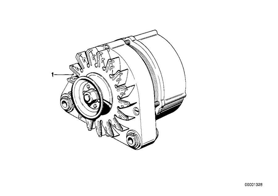 1989 BMW 325i Exch generator. 90a. Alternator, system
