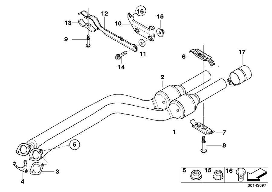 2012 BMW 328i Flat gasket. Exhaust, System, SILENCER