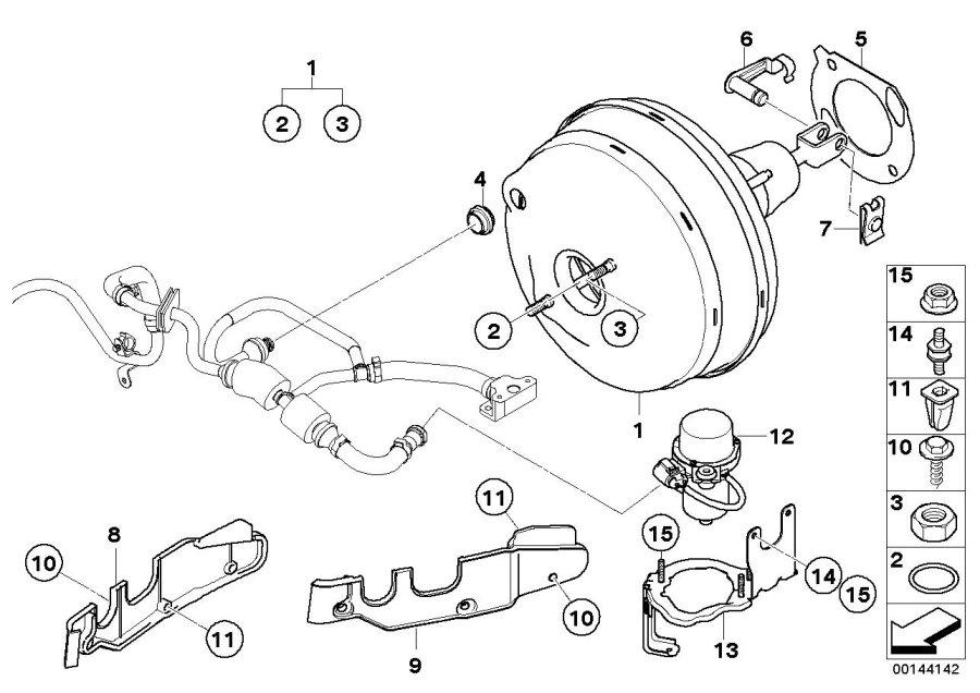 2004 BMW M5 Brake servo unit. Brakes, Power, Maintenance