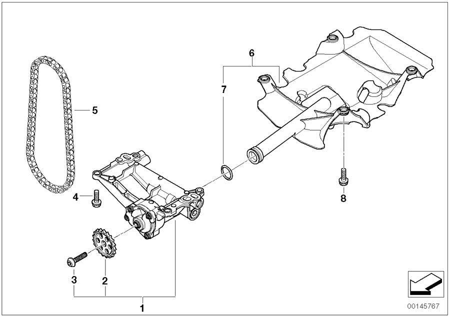 BMW X5 Oil pump. System, Lubrication, Engine, Drive