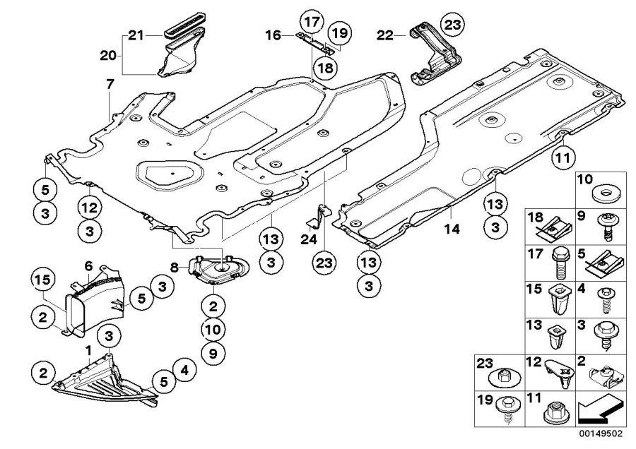 2010 BMW M6 Quick-release screw. 15, 4MM. Engine