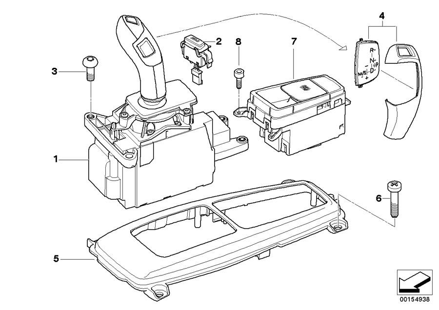 BMW X5 Gear selector switch. Transmission, Hybrid